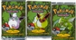Pokemon 1st Edition Jungle Booster Pack X3 - One of each Art (Scyther, Jigglypuff, Flareon)