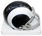 Roman Gabriel Autographed Los Angeles Rams Throwback Mini Helmet