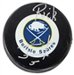 Rick Jeanneret Autographed Buffalo Sabres Throwback Hockey Puck