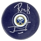 Rick Jeanneret Autographed Buffalo Sabres Current Hockey Puck
