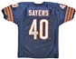 Gale Sayers Autographed Chicago Bears Custom Jersey w/ HOF 77 (Tristar COA)