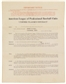 1925 Steve O'Neill Baseball Contract Signed by Ban Johnson & Steve O'Neill PSA/DNA