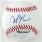 Steve Pearce Autographed Baseball (Slightly Stained) (UDA COA)