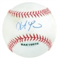 Steve Pearce Autographed Baseball (Stained) (UDA COA)