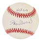"Stan Musial Autographed Official MLB Baseball w/""HOF 69"" Inscription (Mounted Memories)"