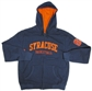 Syracuse Orangemen Basketball Navy Full Zip Hoodie (Size Small)