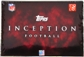 2011 Topps Inception Football Hobby Box