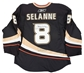 Teemu Selanne Autographed Anaheim Ducks Authentic Black Jersey (JSA)