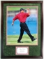 "Tiger Woods Autographed and Framed ""Fist Pump"" 16x20 Golf Photo"
