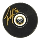 Tyler Myers Autographed Buffalo Sabres Current Logo Hockey Puck