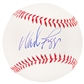 Wade Boggs Autographed Official Major League Baseball (Leaf COA)