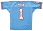 Warren Moon Autographed Houston Oilers Mitchell & Ness Throwback Jersey (UDA COA)
