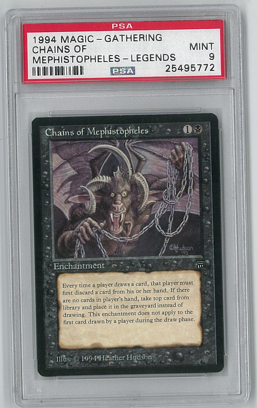 magic the gathering legends chains of mephistopheles psa 9