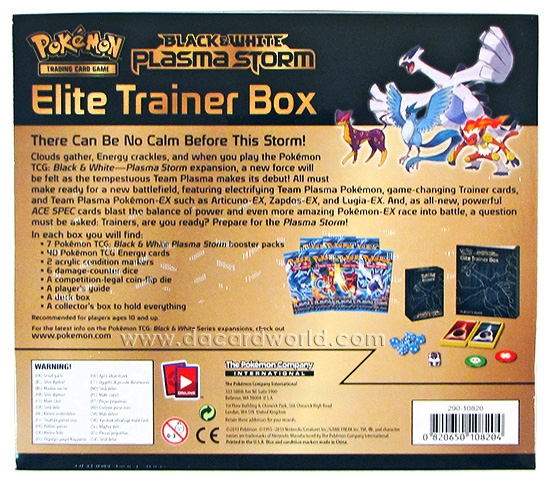 Pokemon Black & White 8: Plasma Storm Elite Trainer Box