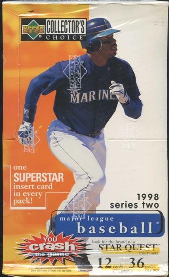 1998 upper deck collector 39 s choice series 2 baseball hobby box da card world. Black Bedroom Furniture Sets. Home Design Ideas