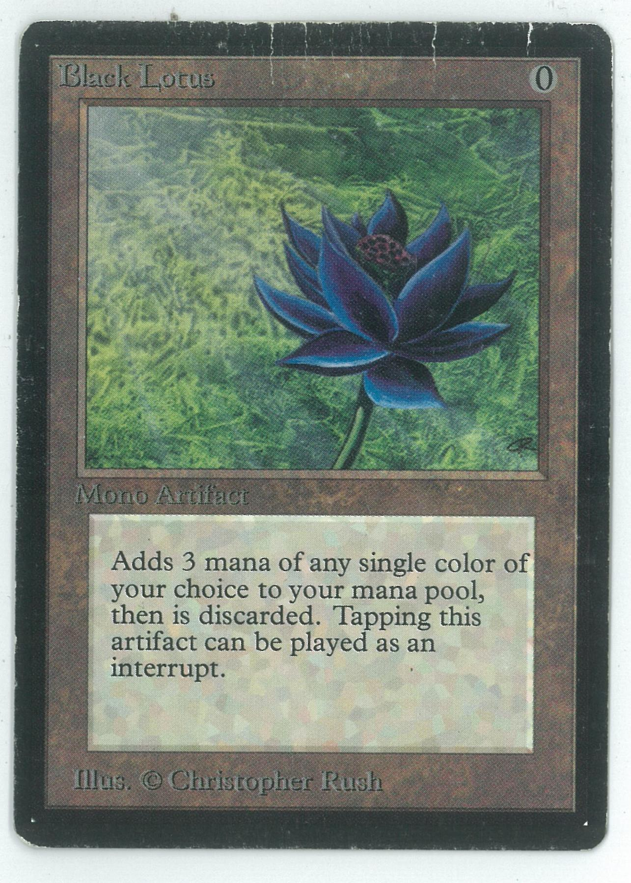 magic the gathering beta single black lotus heavy play. Black Bedroom Furniture Sets. Home Design Ideas