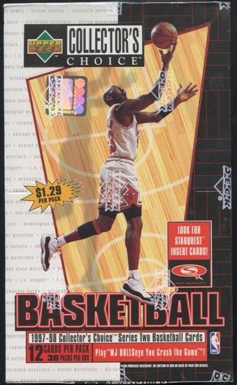 1997 98 upper deck collector 39 s choice series 2 basketball prepriced box da card world. Black Bedroom Furniture Sets. Home Design Ideas
