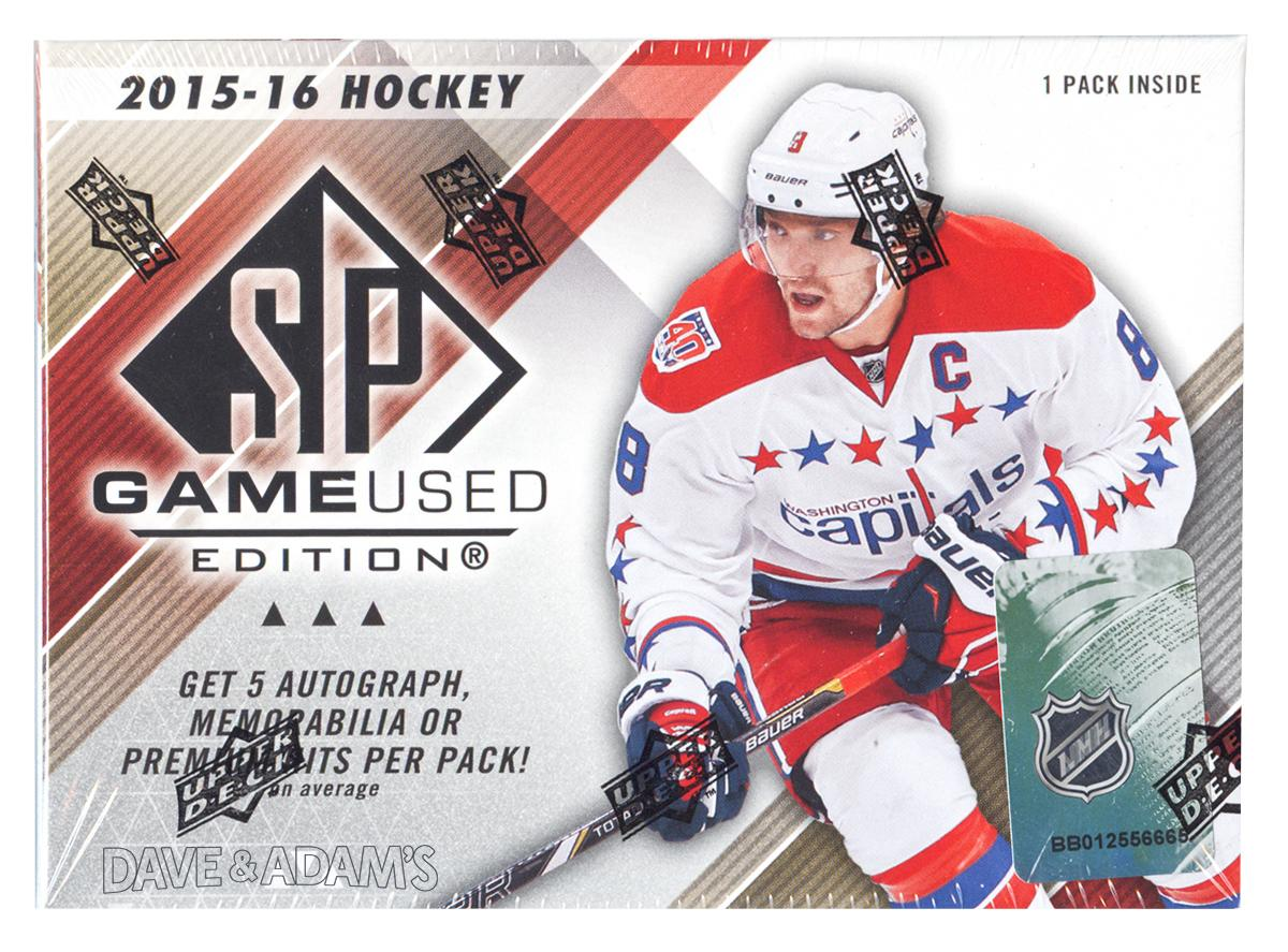 2015 16 Upper Deck SP Game Used Hockey Hobby Box  ee65e6120