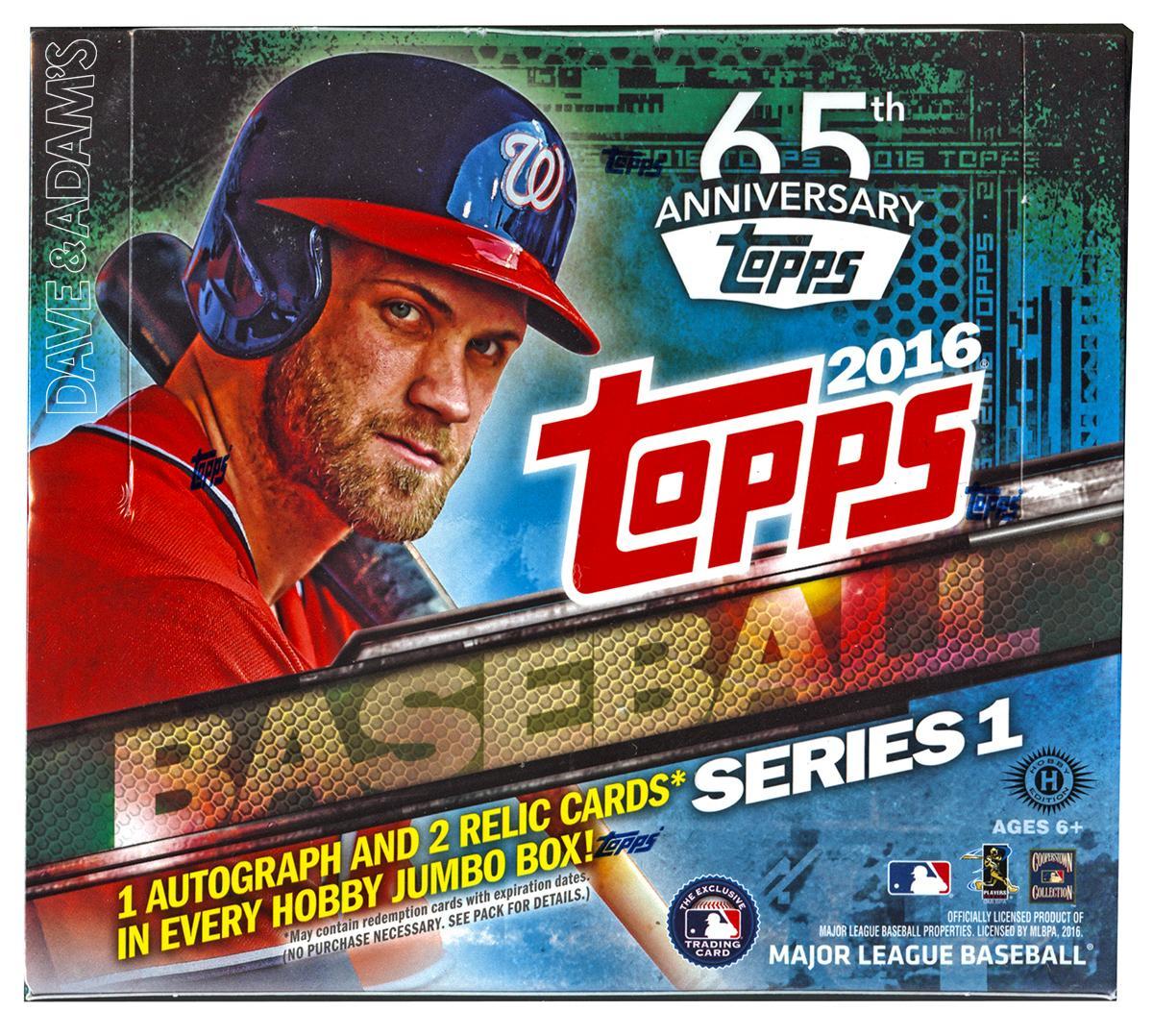 2016 Topps Series 1 Baseball Hobby Jumbo Box Da Card World