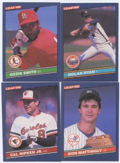 1986 Donruss Leaf Baseball Complete Set Nm Mt Da Card World