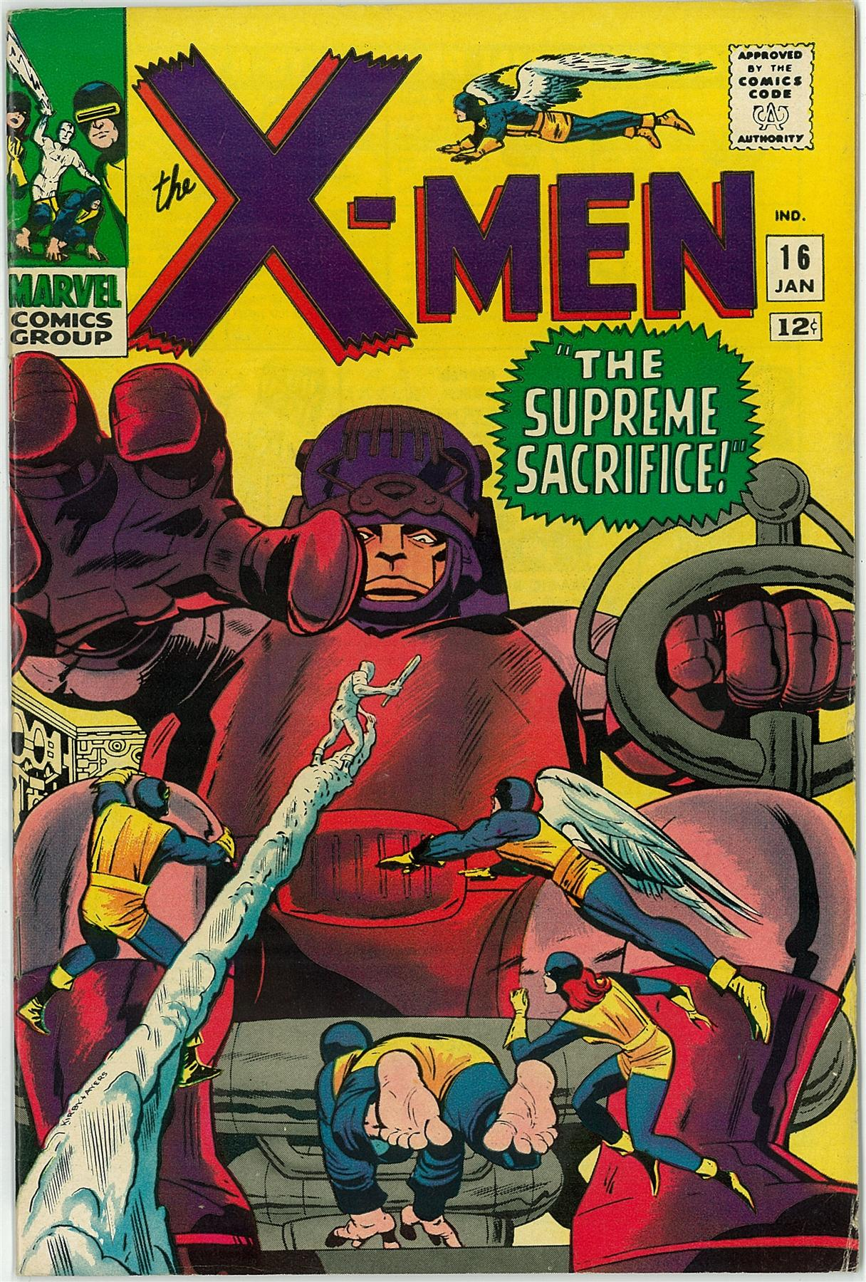 X-Men #16 (1966) VF- Stan Lee JACK KIRBY Sentinels  eBay