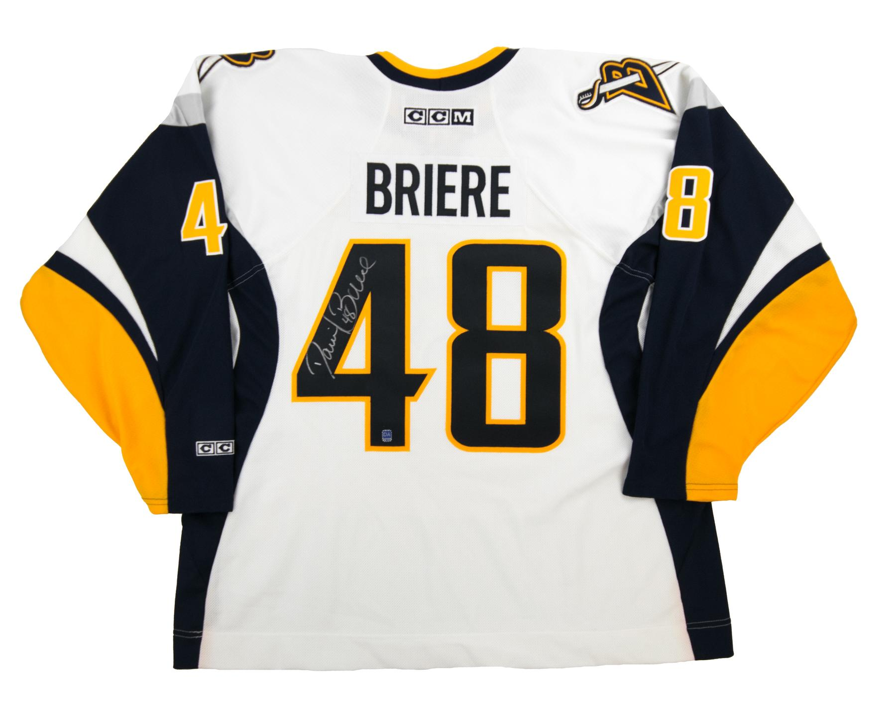 0d152d06f Daniel Briere Autographed Buffalo Sabres XXL White Hockey Jersey