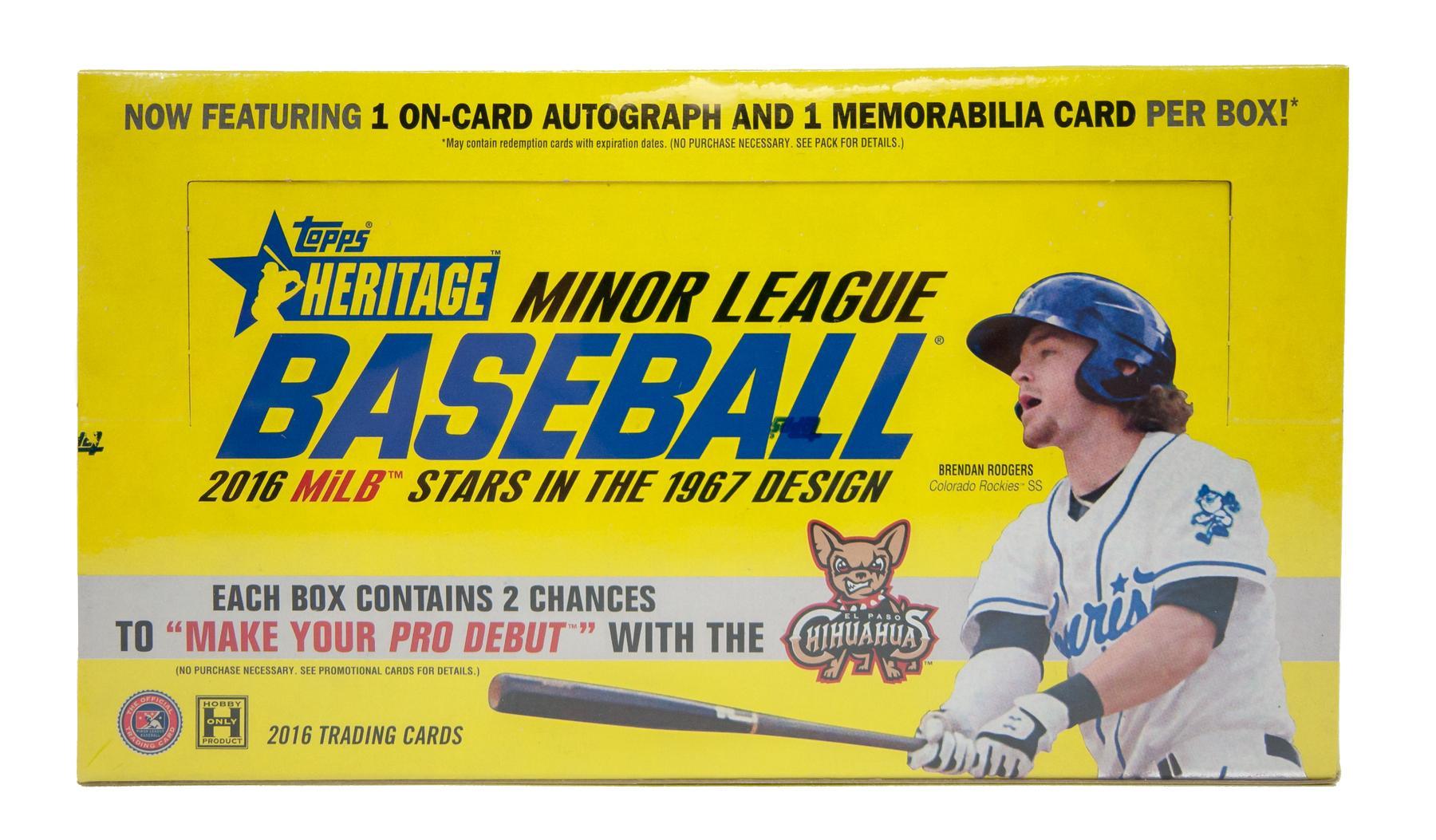 2016 Topps Heritage Minor League Baseball Hobby Box Da Card World