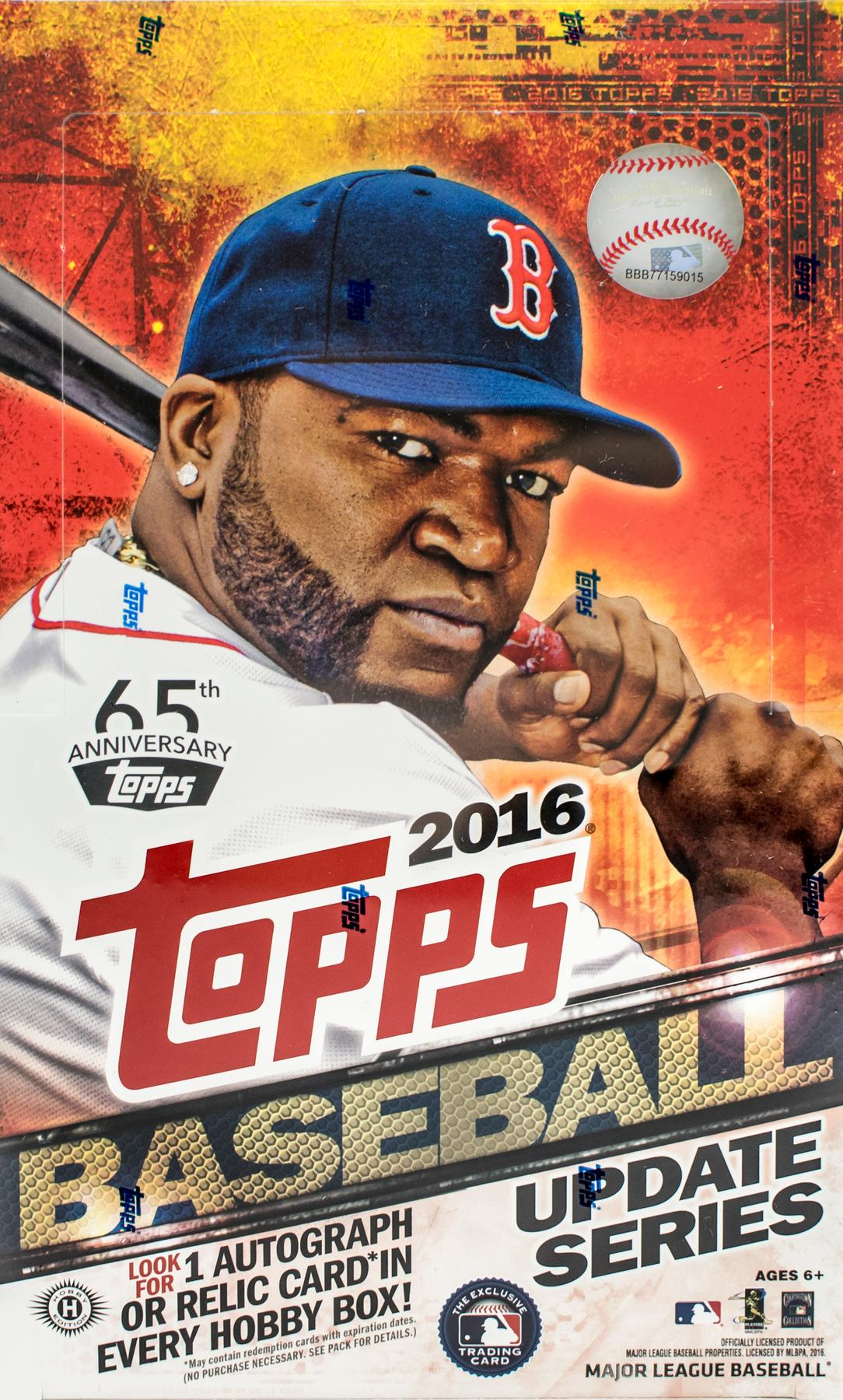 2016 Topps Update Baseball Hobby Box Da Card World