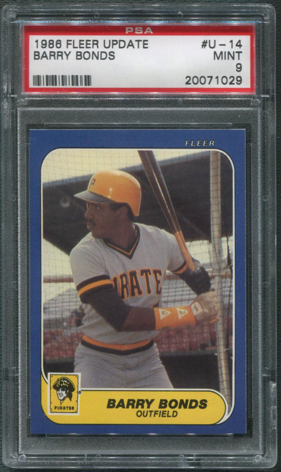 Update 14 Year Old Missing From Denham Springs Area Found: 1986 Fleer Update Baseball #U-14 Barry Bonds Rookie PSA 9