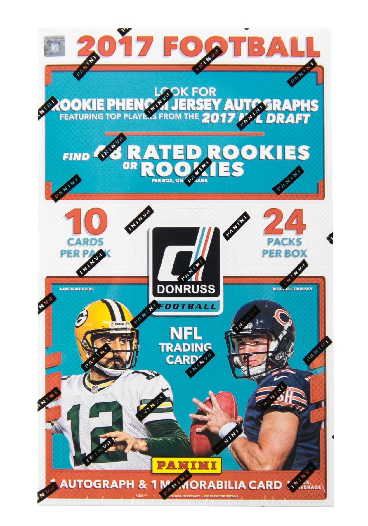 2017 Panini Donruss Football Hobby Box Da Card World