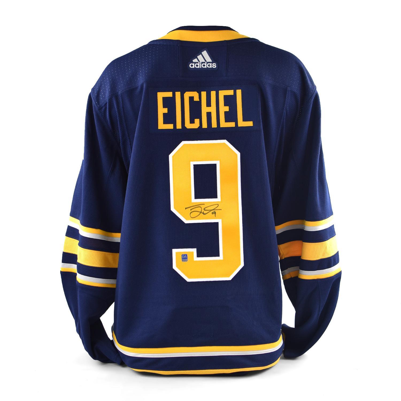 e39aca2fc51 reduced jack eichel autographed 9 buffalo sabres blue hockey jersey b234c  77f4c