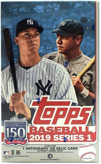 Image for 2019 Topps Series 1 Baseball Hobby Box