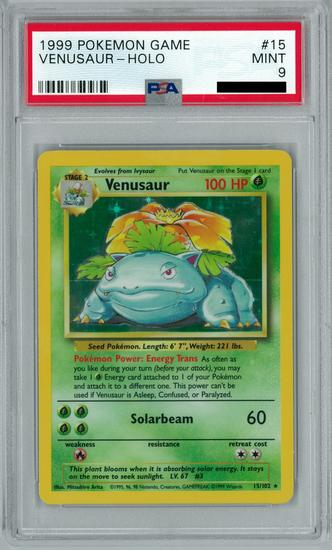 Pokemon Base Set Unlimited Venusaur 15//102 PSA 7
