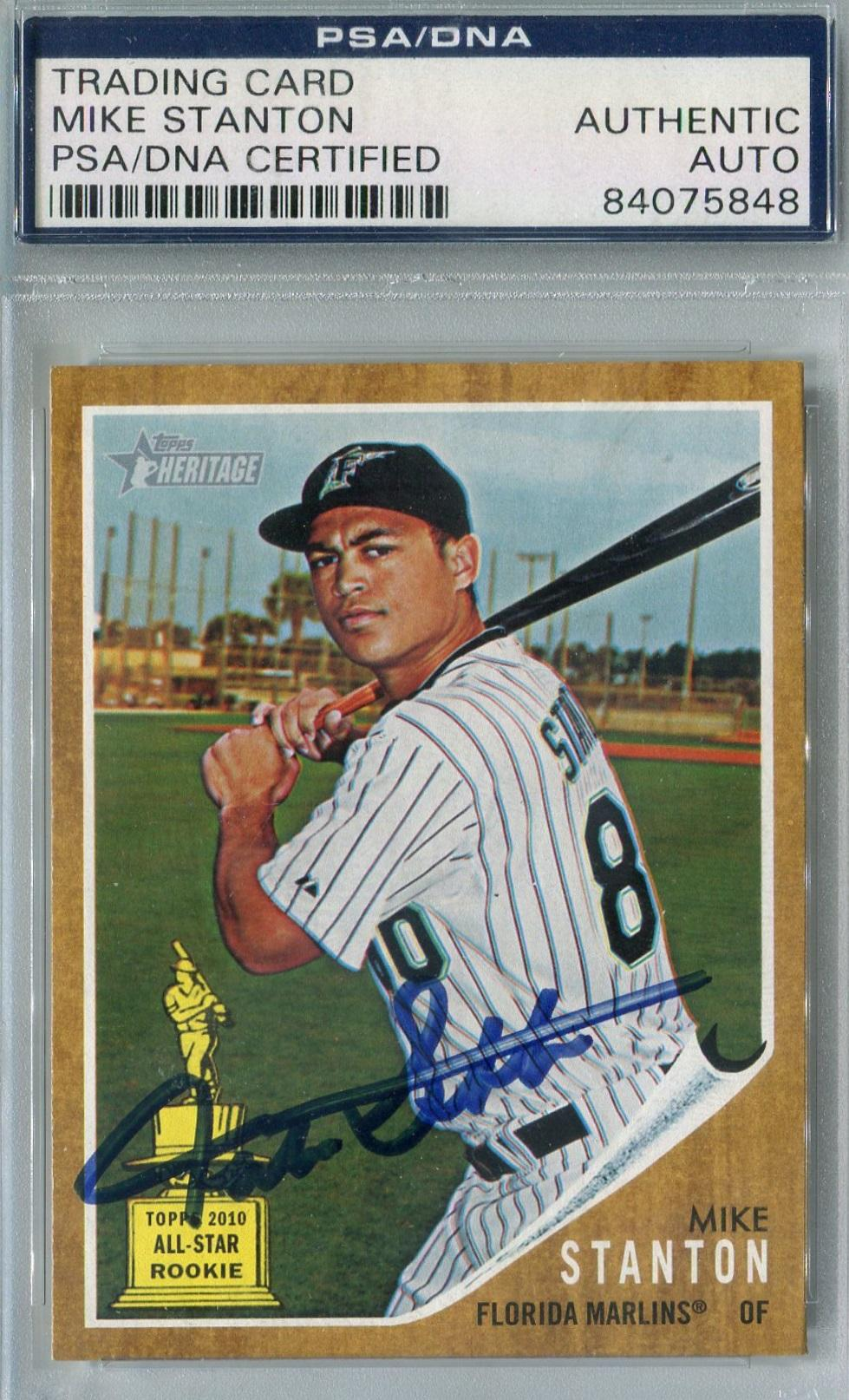 2011 Topps Heritage #288 Giancarlo Stanton Miami Marlins Baseball Card