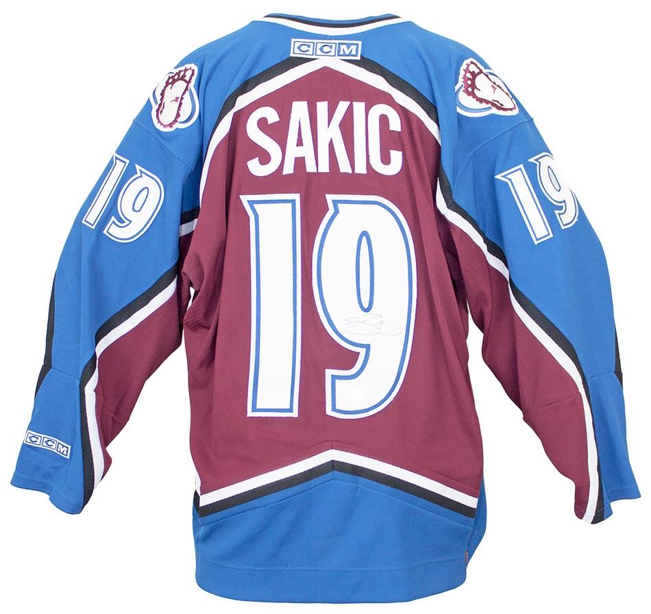 ... order joe sakic autographed colorado avalanche jersey ajs coa da card  world 08e70 25c85 ... b3a770445