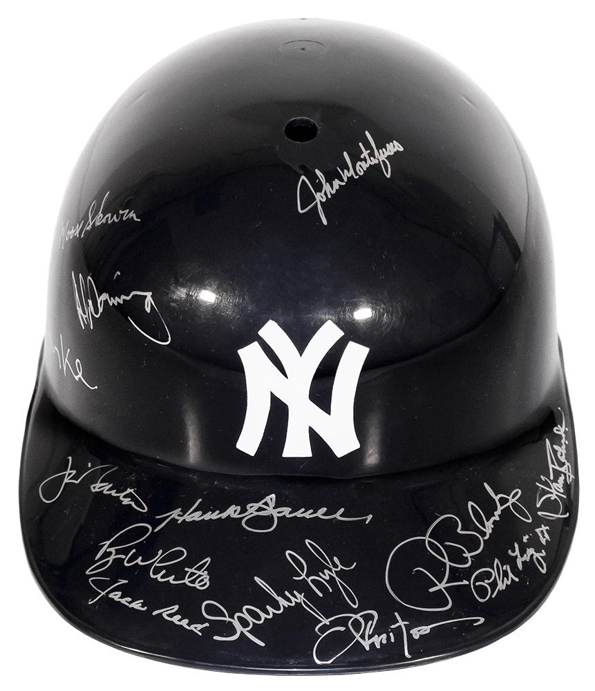 ed3da8cdaf8 New York Yankees Autographed Multi-Signed Hard Hat Helmet
