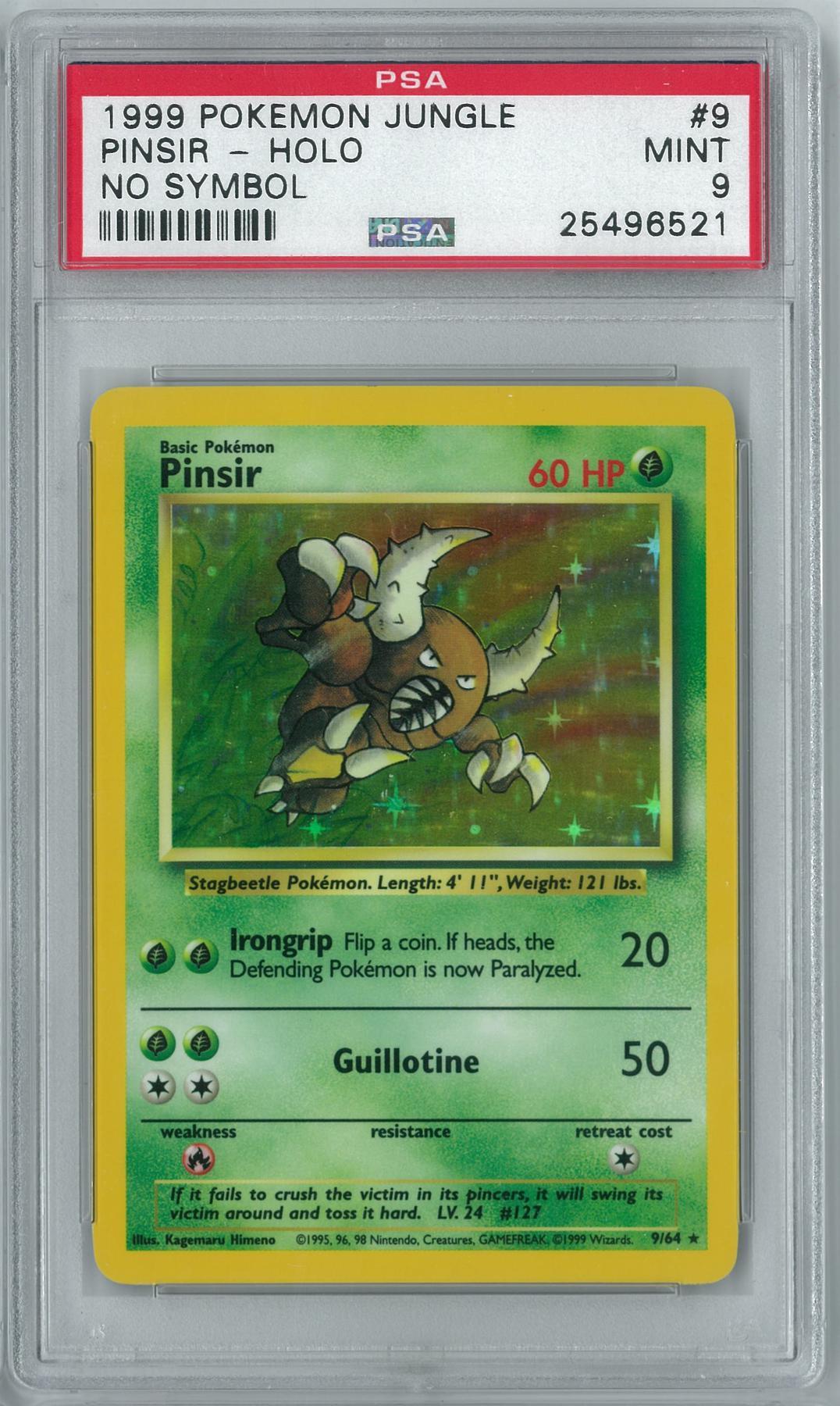 Pokemon Jungle No Set Symbol Error Pinsir 964 Holo Rare Psa 9 Ebay