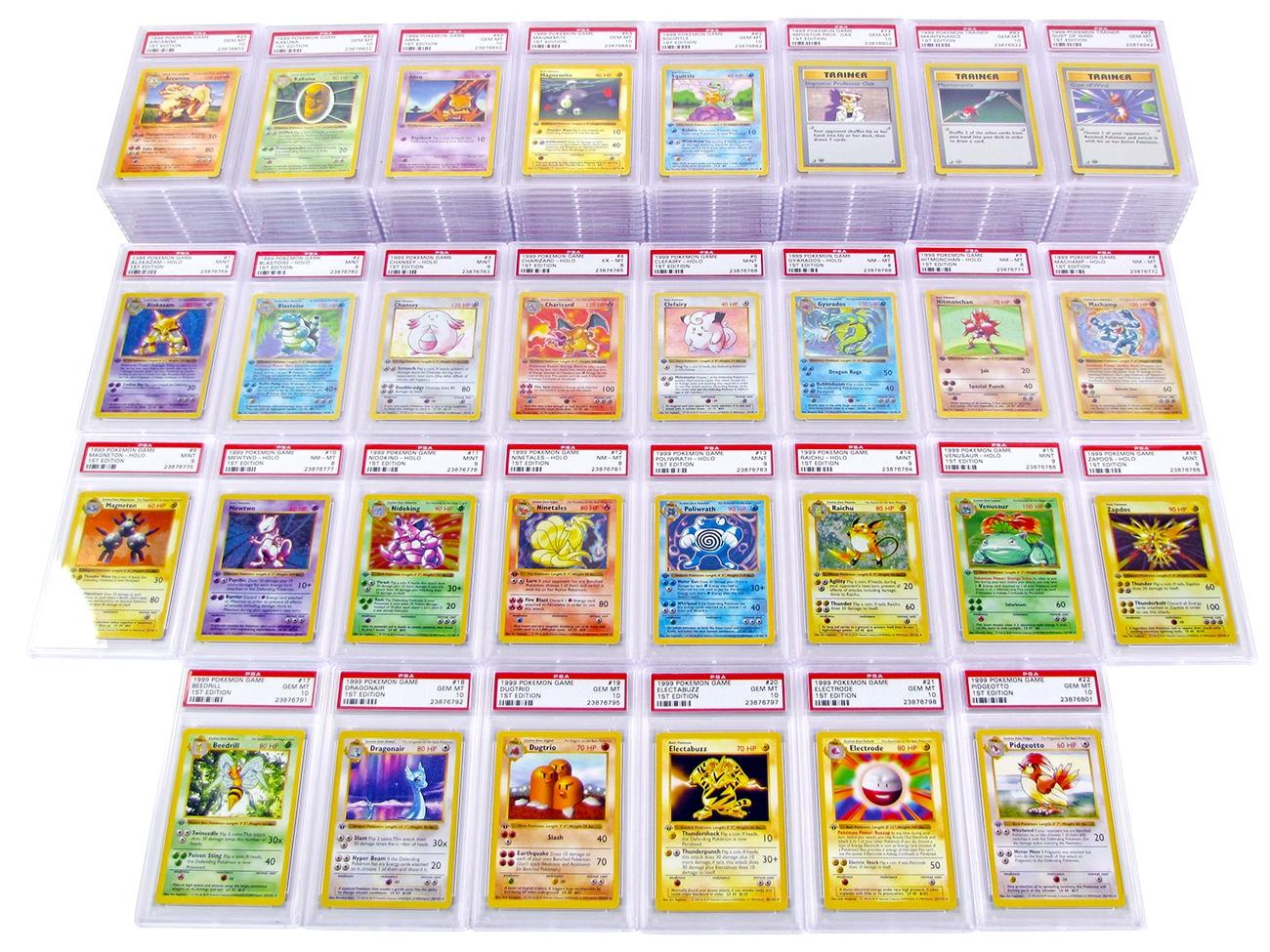 Complete 1st first edition pokemon fossil full card set/62 holo.