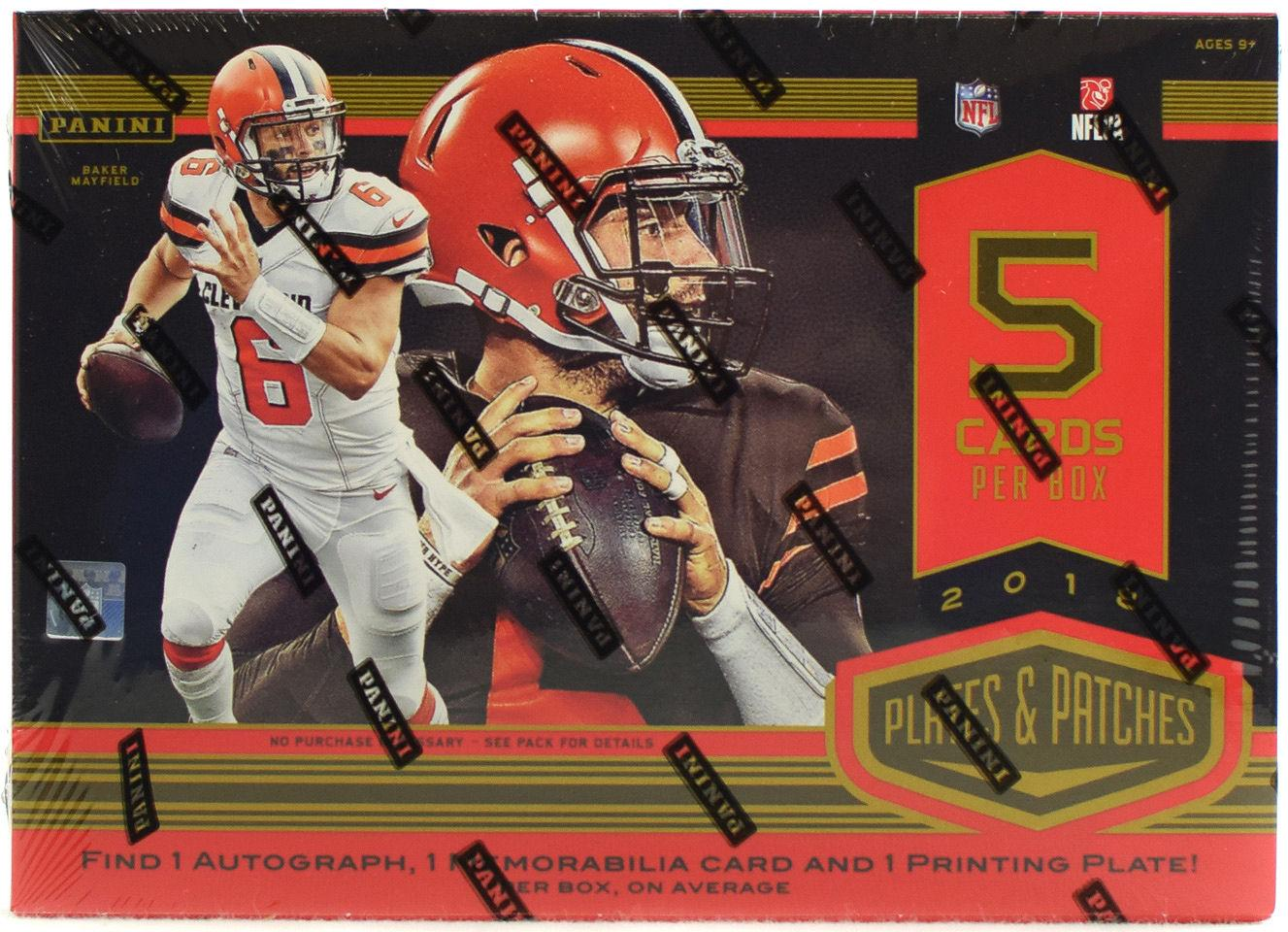 2018 PANINI PLATES AND PATCHES FOOTBALL HOBBY BOX. Each Box contains One  Autograph 39d089df4