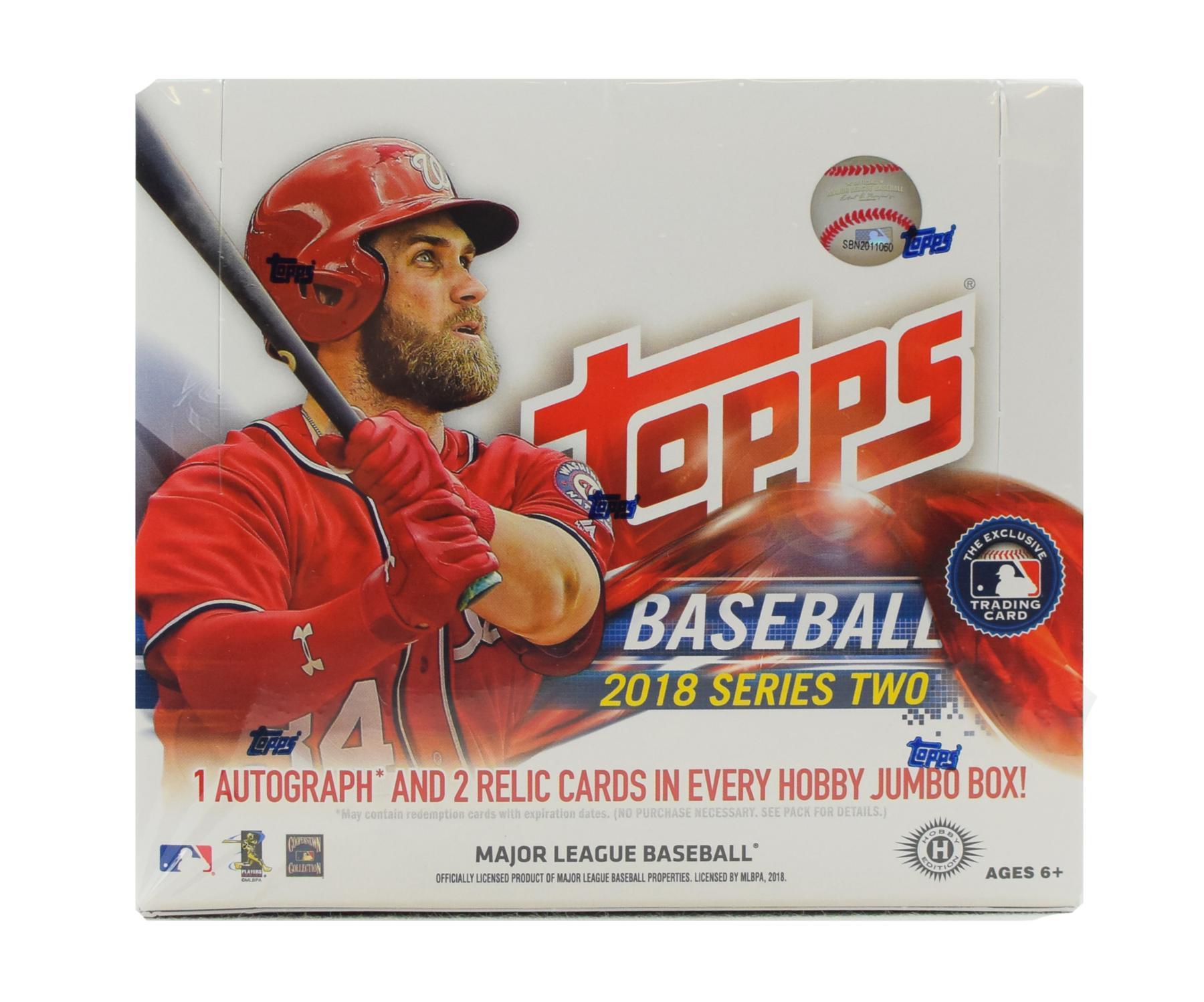 a11f41a08b6 2018 Topps Series 2 Baseball Hobby Jumbo Box