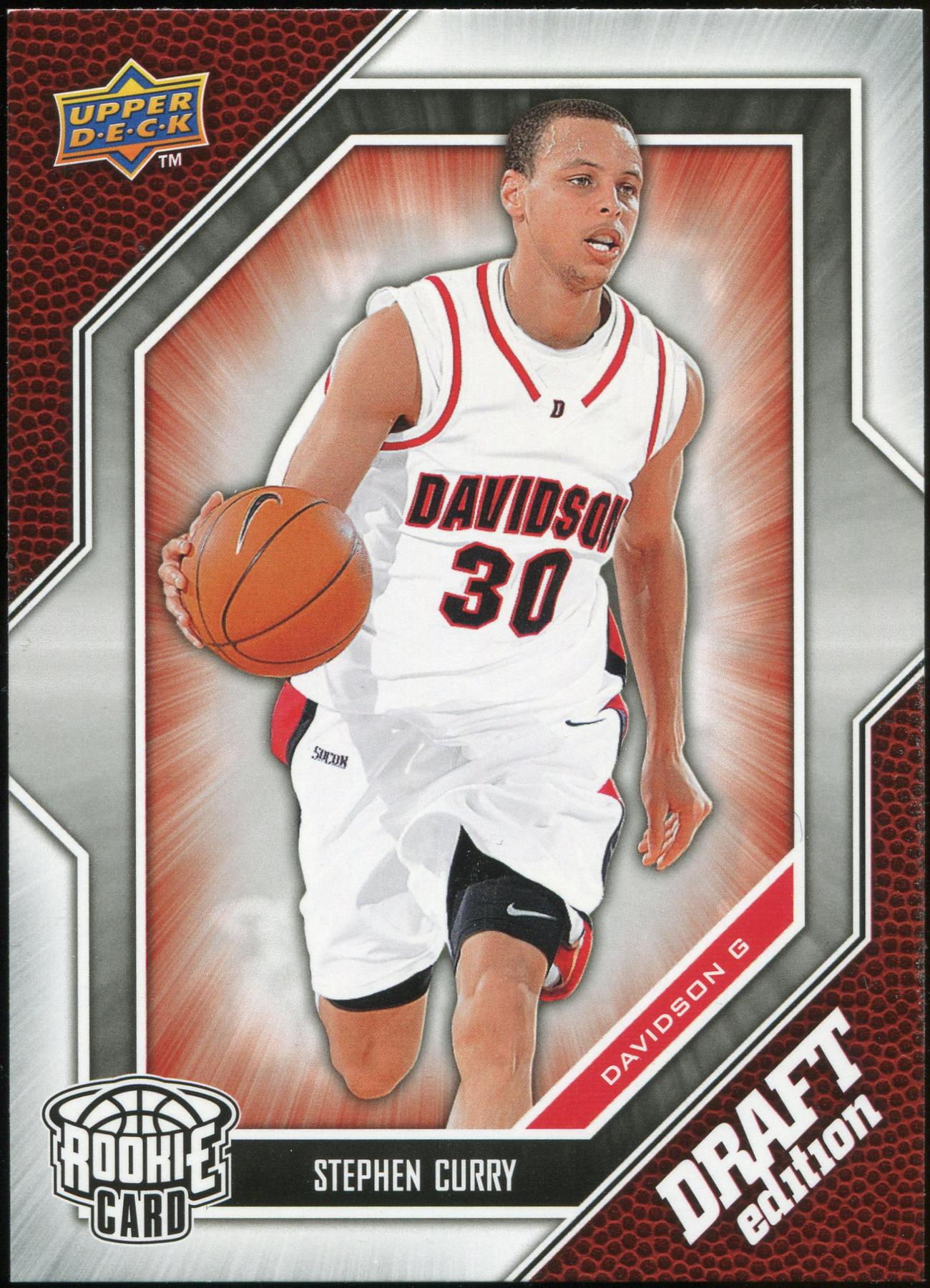 200910 Upper Deck Draft Edition 34 Stephen Curry Sp Rookie Card