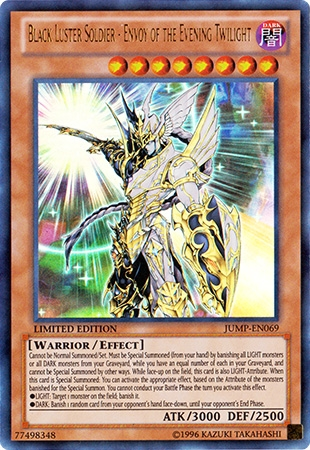 yu gi oh promo single black luster soldier envoy of the evening